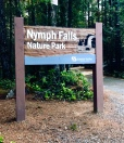 Nymph Falls park entrance near the end of Forbidden Plateau Road