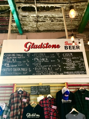 Great selection at Gladstone Brewing