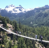 Suspension Bridge at the top The Sea to Summit Trail - Squamish, BC